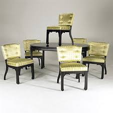 Baker Dining Room Table And Chairs Dining Table Dining Chairs Set Of 6 Silk Brass Smllr 7 Works By