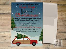 christmas vacation invitation clark griswold invitation