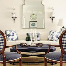 White And Navy Living Room Transitional Living Room House - House beautiful living room designs