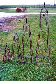 wrought iron square finial flower trellis 7 sizes