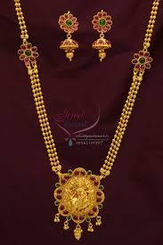 kempu earrings kempu temple stones gold plated necklace jhumka earrings