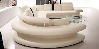 Modern White Bonded Leather Sectional Sofa Outstanding Vig Furniture Polaris White Contemporary Bonded