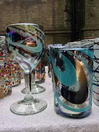 hand blown glasses la galeria design