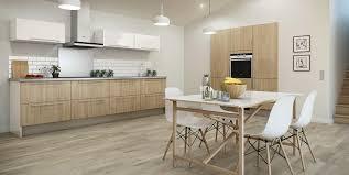 cuisine moderne bois clair cuisine blanche et bois clair