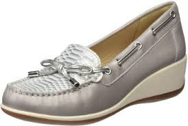 light grey dress shoes buy geox women s arethea 3 moccasin light grey off white 39 5 m eu