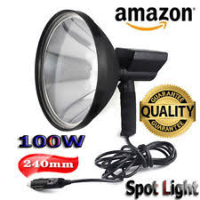 hand held spot light amazon 9 hid handheld 150w 240mm spot light spotlight for fishing cing