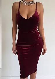 velvet dress burgundy cross back condole belt v neck velvet party club midi