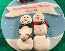 expecting baby ornament etsy