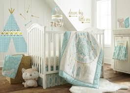 Coral Nursery Bedding Sets by Levtex Baby Little Feather 5 Piece Crib Bedding Set Aqua