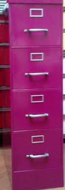 Pink Filing Cabinet Vintage Steel Vertical File Cabinet