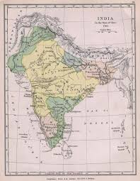 Geographical Map Of India by Historical Map Of India In 1760 Maps Of India