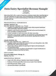 sample resume of data entry clerk data entry resume example resume