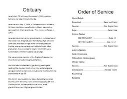 Programs For Funeral Services The Funeral Memorial Program Blog December 2011