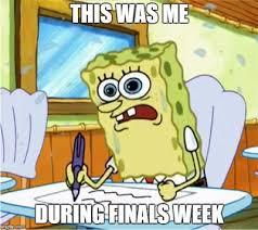 Meme School - spongebob school freak out meme finals week by g strike251 on