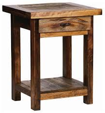 mountain woods furniture rustic wood nightstand w drawer