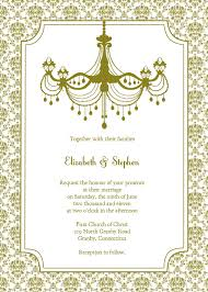 vintage invitation templates vintage chandelier wedding invitation