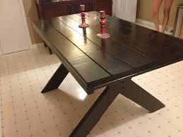 Picnic Table Style Dining Table Home And Furniture - Kitchen table styles
