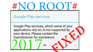 fix google play services is not supported by your device