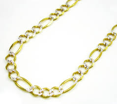 figaro gold necklace images 10k yellow gold diamond cut figaro chain 20 30 inch 5 5mm jpg