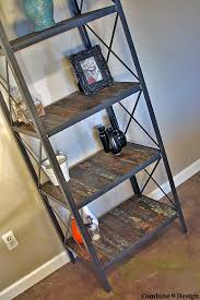 industrial rustic bookcase vintage style shelving unit made