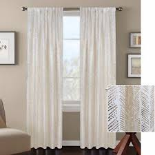Gold Metallic Curtains Premium Textured Weave White Gold Metallic Print Curtains Panels