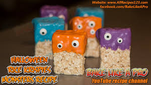 halloween rice krispies monsters recipe youtube