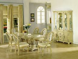 Antique White Dining Table - Tribecca home mckay country antique white pedestal extending dining table
