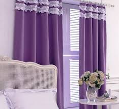 Unique Curtains For A Purple Bedroom  For Minimalist Design Room - Design of curtains in bedroom