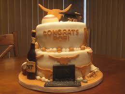 longhorn graduation cake hornfans