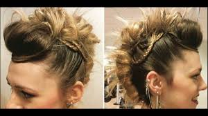 mohawk twist with micro braids hairstyle gives beautiful look