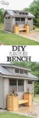 Wood Planter Bench Plans Free by Garden Planter Boxes Outdoors Pinterest Garden Planters