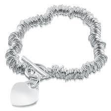 tiffany heart bracelet sterling silver images Ladies sweetie link t bar heart bracelet free engraving jpg