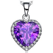 purple gold necklace images Neemoda gifts for women purple heart pendant necklace jpg