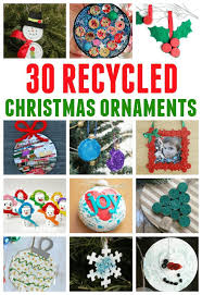a great collection of ornaments made with recycled