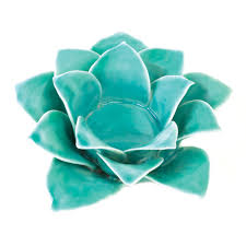 blue lotus tealight candle holder wholesale at eastwind wholesale