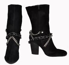 s boots calf length nine jaw breaker black genuine suede calf length s