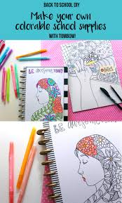 create your own coloring page back to supplies