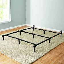 Assembling A Bed Frame Mainstays 7 Adjustable Metal Bed Frame Easy No Tools Assembly