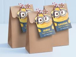 minion gift bags minion printable lollie bag tags edit and print as many