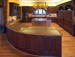 kitchens with bars and islands pictures of log home kitchens the log home guide