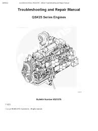 troubleshooting and repair manual qsk23 series engines fuel