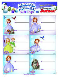 sofia holiday gift tags printable neat disney crafts