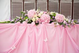 Pink Wedding Bridal Table Decorations Stock Image of