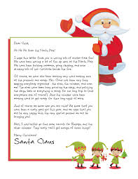 letters from santa easy free letter from santa magical package printable letters