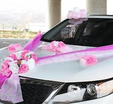 wedding car decorations wedding car decorations kit ribbons pink flower bow garland
