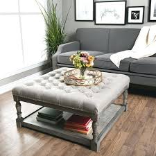 Coffee Table Leather Ottoman Storage Bench Coffee Table Leather Ottoman With 4 Tray Tops