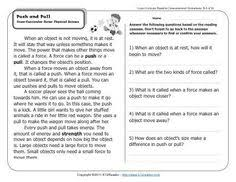 cause u0026 effect reading comprehension passages cross curricular