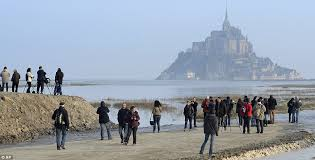 Mont Saint Michel Interior Supertide In Mont Saint Michel France Sparked By Solar Eclipse