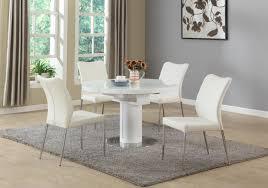 chintaly nora dining white 5 piece dining set beyond stores chintaly nora dining white 5 piece dining set
