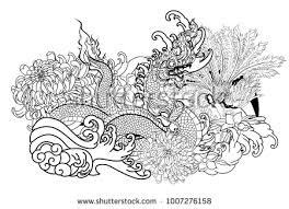 naga tattoo thailand thai traditional tattoo design naga king stock vector 1007276158